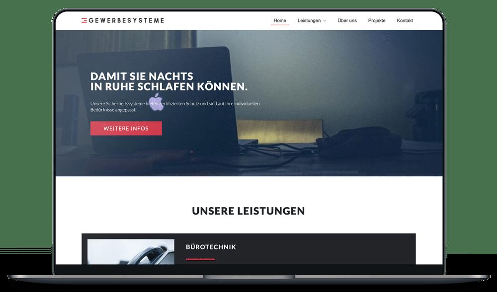 Website Gewerbesysteme